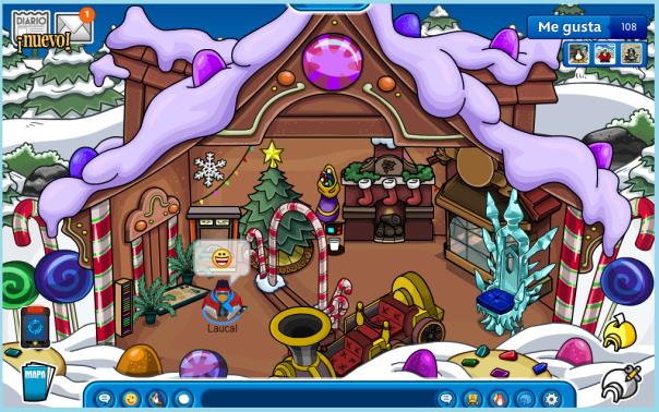 mi igloo decorado navideño